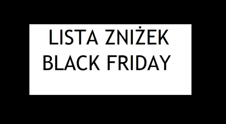 black friday 2017 czarny poniedziałłek